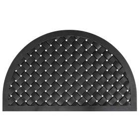 Rubber deurmat Weave halfrond - 56 x 91 cm